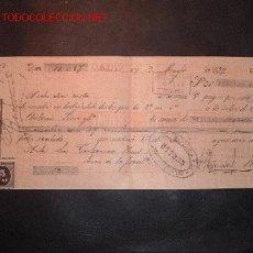 Documentos bancarios: LETRA DE CAMBIO DEL SIGLO XIX CON 2 SELLO DE IMPUESTO DE GUERRA(1898-99). Lote 647481