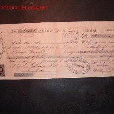 Documentos bancarios: LETRA DE CAMBIO DEL SIGLO XIX CON 2 SELLO DE IMPUESTO DE GUERRA(1898-99). Lote 647487
