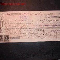 Documentos bancarios: LETRA DE CAMBIO DEL SIGLO XIX CON 3 SELLO DE IMPUESTO DE GUERRA(1898-99). Lote 14913255