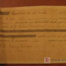 Documentos bancarios: LETRA DE CAMBIO, 1896. Lote 3918145