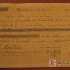 Documentos bancarios: LETRA DE CAMBIO, 1896. Lote 3918151