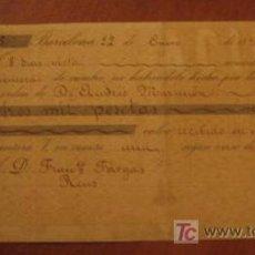 Documentos bancarios: LETRA DE CAMBIO, 1896. Lote 3918154