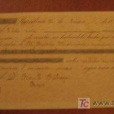 Documentos bancarios: LETRA DE CAMBIO, 1896. Lote 3918156