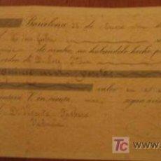 Documentos bancarios: LETRA DE CAMBIO, 1896. Lote 3918532