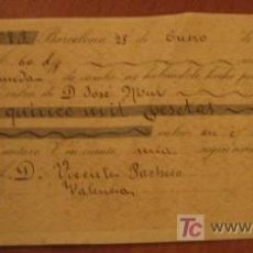 Documentos bancarios: LETRA DE CAMBIO, 1896. Lote 3918654