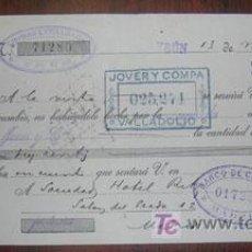 Documentos bancarios: LETRA DE CAMBIO - AÑO 1909 - FECHADO EN IRUN . Lote 4177848