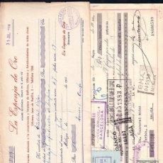 Documentos bancarios: LOTE 1 ** 10 ANTIGUAS LETRAS DE CAMBIO ** MALAGA ** PRINCIPIOS AÑOS 40 ´S . Lote 24030080