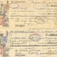 Documentos bancarios: DOS LETRAS DE CAMBIO 1920 DE BURGOS SELLOS BANCO MERCANTIL SANTOÑA SANTANDER. Lote 22519021