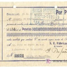 Documentos bancarios: BANCO GUIPUZCOANO GUIPUZCOA LETRA DE CAMBIO AÑO 1939. Lote 22558823