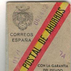 Documentos bancarios: LIBRETA DE LA CAJA POSTAL DE 1945. Lote 26550698