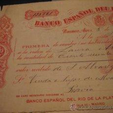 Documentos bancarios: BANCO ESPAÑOL DEL RIO DE LA PLATA. Lote 10315798