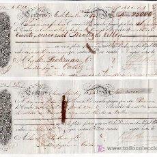 Documentos bancarios: .LETRA CAMBIO 1ª Y 2ª 25000 RS VELLON, LONDRES 6 SEPTIEMBRE 1845 (A SEVILLA) TIMBRE EN SECO . Lote 11483163
