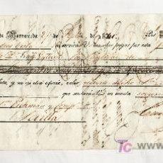 Documentos bancarios: .LETRA CAMBIO 1ª 1791,12 RS VELLON, SANLUCAR BARRAMEDA 27 SEPTIEMBRE 1841. Lote 11527052