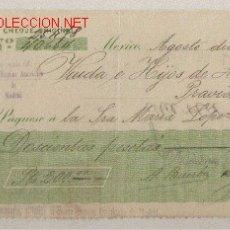 Documentos bancarios: PPRECIOSO CHEQUE DE ASTURIAS DEL COMERCIO CON MEXICO DE 1920 DEL BANCO HISPANO AMERICANO DE MEXICO. Lote 23995500