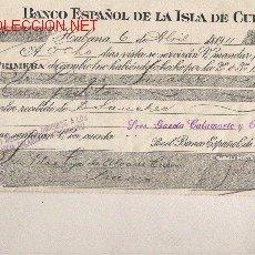 Documentos bancarios: LETRA DE ASTURIAS (PRAVIA ) DEL COMERCIO CON CUBA DE 1911 DE LA HABANA . Lote 19093228