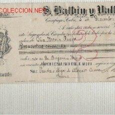 Documentos bancarios: PRECIOSA LETRA DE ASTURIAS (PRAVIA ) DEL COMERCIO CON CUBA DE 1907 DE CIENFUEGOS . Lote 20652964