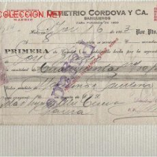 Documentos bancarios: PRECIOSA LETRA DE ASTURIAS (PRAVIA ) DEL COMERCIO CON CUBA DE 1923 DE LA HABANA . Lote 21061942