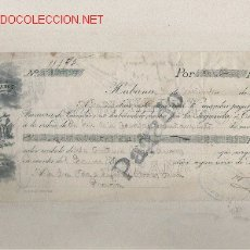 Documentos bancarios: PRECIOSA LETRA DE ASTURIAS (PRAVIA ) DEL COMERCIO CON CUBA DE 1916 DE LA HABANA . Lote 20117618