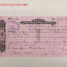 Documentos bancarios: PRECIOSA LETRA DE ASTURIAS (PRAVIA ) DEL COMERCIO CON ARGENTINA DE 1917. Lote 7099850
