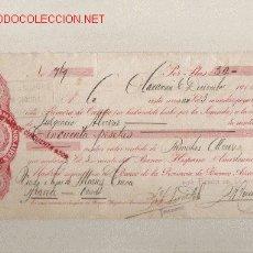 Documentos bancarios: PRECIOSA LETRA DE ASTURIAS (PRAVIA ) DEL COMERCIO CON ARGENTINA DE 1913 . Lote 20733294