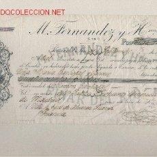 Documentos bancarios: LETRA DE ASTURIAS (PRAVIA ) DEL COMERCIO CON CUBA DE 1908 DE PINAR DEL RIO. Lote 12867827