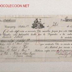 Documentos bancarios: PRECIOSA LETRA DE ASTURIAS (PRAVIA ) DEL COMERCIO CON CUBA DE 1915 DE CAMAGUEY. Lote 21022540