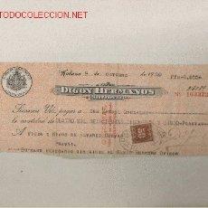 Documentos bancarios: PRECIOSO CHEQUE DE ASTURIAS (PRAVIA ) DEL COMERCIO CON CUBA DE 1920 DE LA HABANA. Lote 7162090