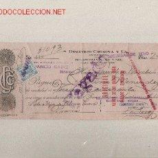 Documentos bancarios: PRECIOSO CHEQUE DE ASTURIAS (PRAVIA ) DEL COMERCIO CON CUBA DE 1923 DE LA HABANA. Lote 21007818