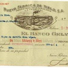 Documentos bancários: CHEQUE FABRICA CERVEZA LA TROPICAL Nº1 AÑOS 40 ORIGINAL CUBA . Lote 23317452