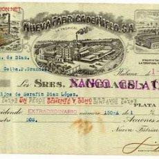 Documentos bancários: CHEQUE FABRICA CERVEZA LA TROPICAL Nº 2 AÑOS 40 ORIGINAL CUBA . Lote 38851043