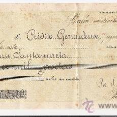 Documentos bancarios: PAGARE DEL CREDITO GERUNDENSE PARA D. ESTEBAN SANTAMARIA . AÑO 1913. Lote 11949595