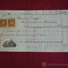 Documentos bancarios: PAGARE DE 13123,35 PESETAS DE ROSES Y COMPAÑIA DE LA HABANA DEL AÑO 1922. Lote 27256776