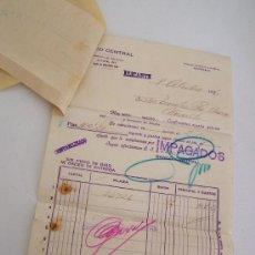 Documentos bancarios: DOCUMENTO DEL BANCO CENTRAL- 08/10/1936-ALICANTE. Lote 23429880