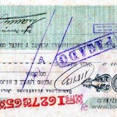 Documentos bancarios: CHEQUE BANCO POPULAR DE LOS PREVISORES DEL PORVENIR - BARCELONA. Lote 25563138