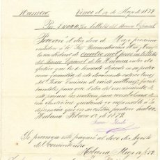 Documentos bancarios: 1879 PAGARE DE CUATRO MIL PESOS LA HABANA CUBA UNA HOJA. Lote 22756211