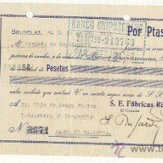 Documentos bancarios: 1939 LETRA DE CAMBIO BANCO GUIPUZCOANO. Lote 26117482