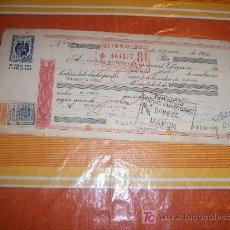 Documentos bancarios: LETRA DE CAMBIO DE LA CLASE 12 ª + 4 TIMBRES. BANCO POPULAR ESPAÑOL AÑO 1960. Lote 21455503