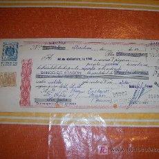Documentos bancarios: LETRA DE CAMBIO DE LA CLASE 10 ª + 2 TIMBRES 40 CTS. BANCO DE ARAGON DEL AÑO 1960. Lote 18942730