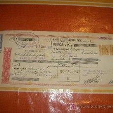 Documentos bancarios: LETRA DE CAMBIO DE LA CLASE 11 ª + 2 TIMBRES DE 40 CETIMOS. BANCO CENTRAL DEL AÑO 1960. Lote 18482750