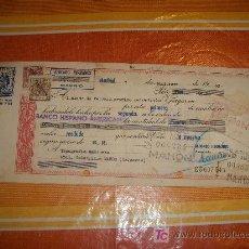 Documentos bancarios: LETRA DE CAMBIO DE LA CLASE 12 ª + 2 TIMBRES. BANCO HISPANO AMERICANO AÑO 1960. Lote 18942651