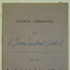 Documentos bancarios: LIBRETA DE CUENTA CORRIENTE-BANCO POPULAR DE LOS PREVISORES DEL PORVENIR-VITORIA-AÑOS 1940S. Lote 17797332