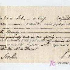 Documentos bancarios: LETRA DE CAMBIO. POR 2500 REALES DE VELLÓN. CÓRDOBA 1857.. Lote 17925541