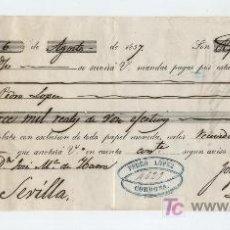 Documentos bancarios: LETRA DE CAMBIO. POR 14.000 REALES DE VELLÓN. CÓRDOBA 1857.. Lote 17926523