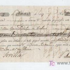 Documentos bancarios: LETRA DE CAMBIO. POR 2250 REALES DE VELLÓN. CÓRDOBA 1857.. Lote 17926577