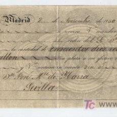 Documentos bancarios: LETRA DE CAMBIO. POR 310 REALES DE VELLÓN Y 17 MARAVEDÍS. MADRID 1850.. Lote 17927955