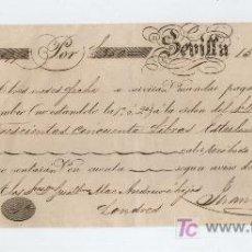 Documentos bancarios: LETRA DE CAMBIO POR 350 LIBRAS ESTERLINAS. SEVILLA 1849. PAGADERA EN LONDRES. MEMBRETE DE J. CUN-. Lote 18149394