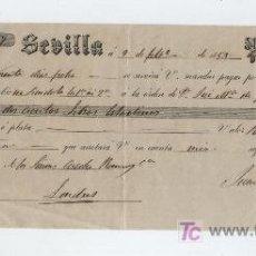 Documentos bancarios: LETRA DE CAMBIO POR 200 LIBRAS ESTERLINAS. SEVILLA 1953. PAGADERA EN LONDRES. MEMBRETE DE JUAN -. Lote 18149457