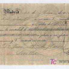 Documentos bancarios: LETRA DE CAMBIO POR 1.000 REALES DE VELLÓN. MADRID 1850. PAGADERA EN SEVILLA.MEMBRETE DE RIVAS Y. Lote 18149592