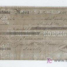 Documentos bancarios: LETRA DE CAMBIO POR 160 REALES DE VELLÓN. MADRID 1849. PAGADERA EN SEVILLA. MEMBRETE DE RIVAS Y RO-. Lote 18149692