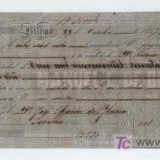 Documentos bancarios: LETRA DE CAMBIO POR 11.966 REALES DE VELLÓN Y 15 MARAVEDÍS. BILBAO 1857. PAGADERA EN SEVILLA. MEMBRE. Lote 18149865